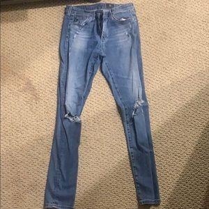 AG supper skinny, legging ankle, blue jeans